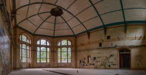 Huge hall in one of the Beelitz kitchen buildings