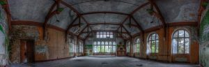Event room in the Beelitz central baths possibly used as theatre
