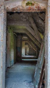 Top floor hallway of the Whitney-Houston-House, Beelitz