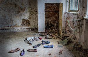 Shoes in the Whitney-Houston-House, Beelitz Heilstätten