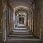 Long corridor of a Beelitz hospital building