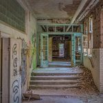 Corridor in the basement of the Beelitz surgery