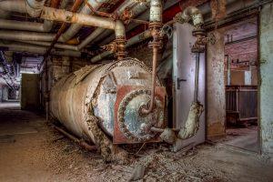 Oiltank in the basement of Beelitz surgery