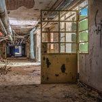 Oil tank and corridor in the basement of the Beelitz surgery