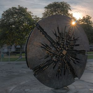 Sun behind the art Grande Disco