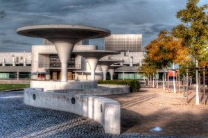 Hessisches Staatstheater Darmstadt and underground parking