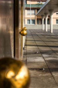 Golden theatre door knobs