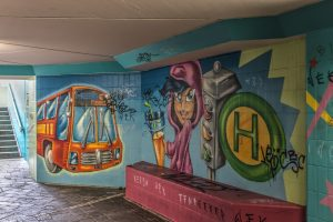 Graffiti art in an underbridge