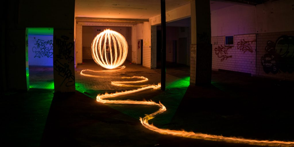 Fire orb with fire trail