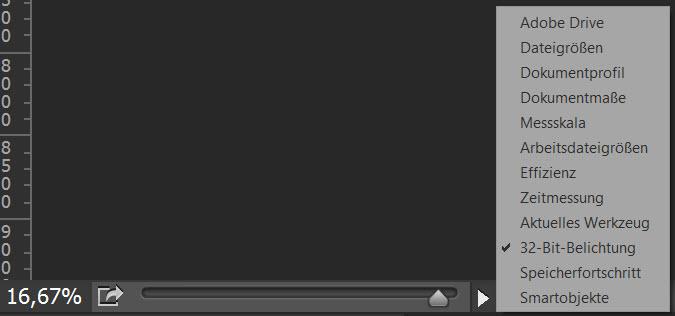 32-Bit-Exposure slider in Adobe Photoshop