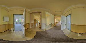 Elite boarding school - main building, ground floor, stairway and hallway west