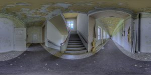 Elite boarding school - main building, first floor, stairway west