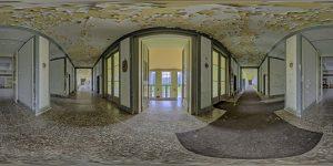 Elite boarding school - main building, ground floor, hallway at entrance area.