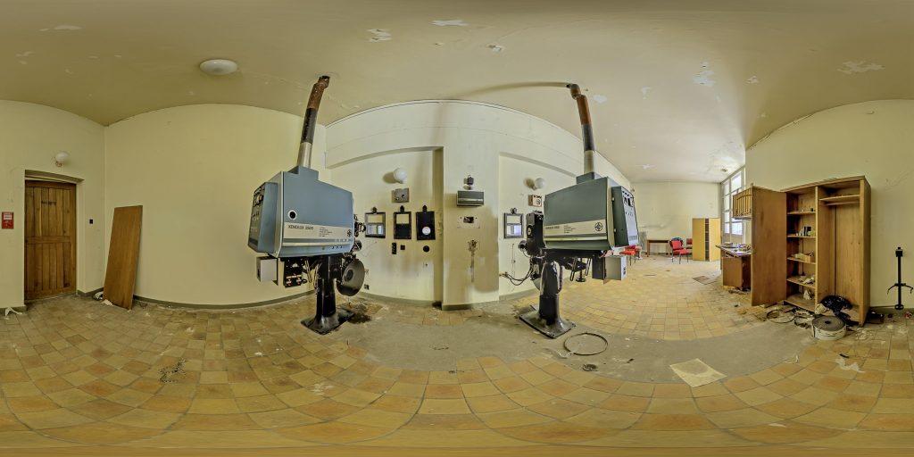 Elite boarding school - main building, projector room