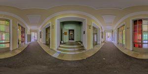 Elite boarding school - main building, first floor, hallway center
