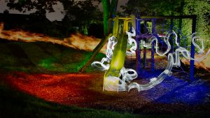 Playground lightpainting experiment 1, Easter 2017